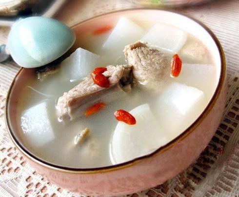 食盐:猪大排500克,白萝卜500克.调味料:材料适量,姜1块,水适量.试纸ph值猪肉如何显示图片