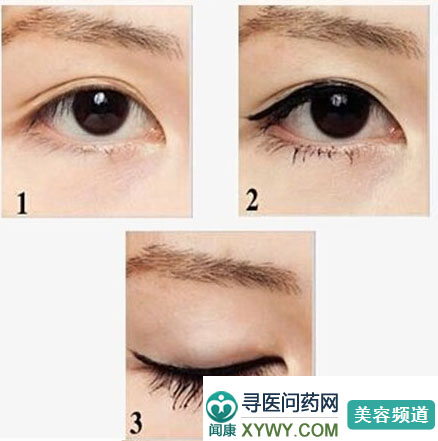 >不同眼型如何画眼线
