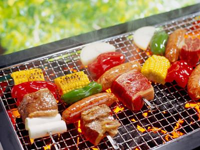简笔画烧烤肉类