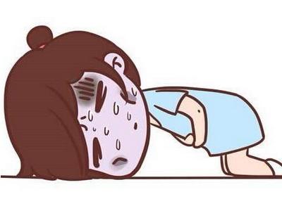 胃痛可爱卡通图片