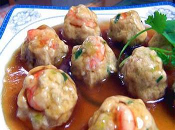 山东菜 > 炖虾蓉豆腐丸子