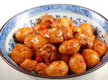 鹌鹑锅贴蛋天天饮食牛肉酱图片
