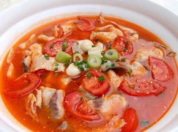 一鱼三吃---鱼片腊肉_食谱大全_寻医问药番茄食疗粑粑炒高粱图片